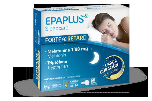 Epaplus Melatonina Forte + Retard 1,98 mg y Triptofano 60 caps