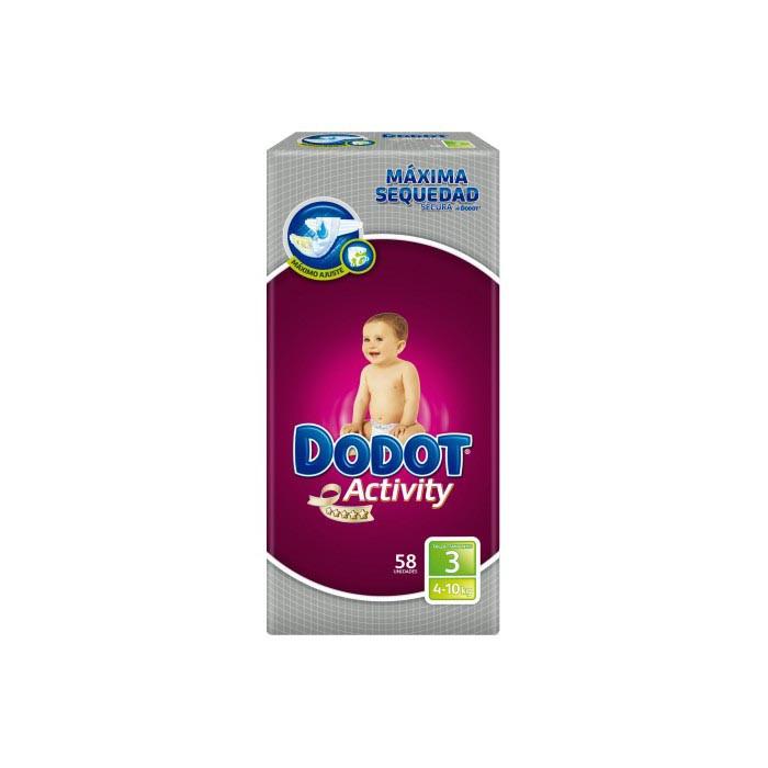 PAÑAL INFANTIL DODOT ACTIVITY T- 3 05-10 KG 56 U