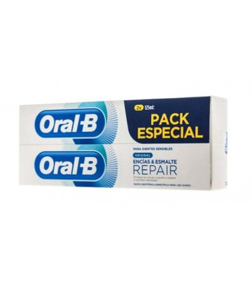 ORAL B ENCIAS Y ESMALTE REPAIR PACK ESPECIAL 2 X 125 ML